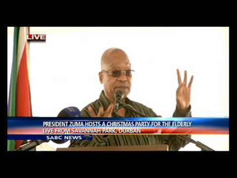 President Zuma hosts a Christmas Party for the elderly in Savannah Park Dbn
