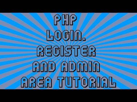 English 1080P Updated PHP 7 Mysql Registration Login and Admin Panel Tutorial Part 1 of 3