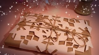 Beautiful Inexpensive Gift Wrapping Tutorial (ASMR softly spoken + wrapping/cutting sounds)