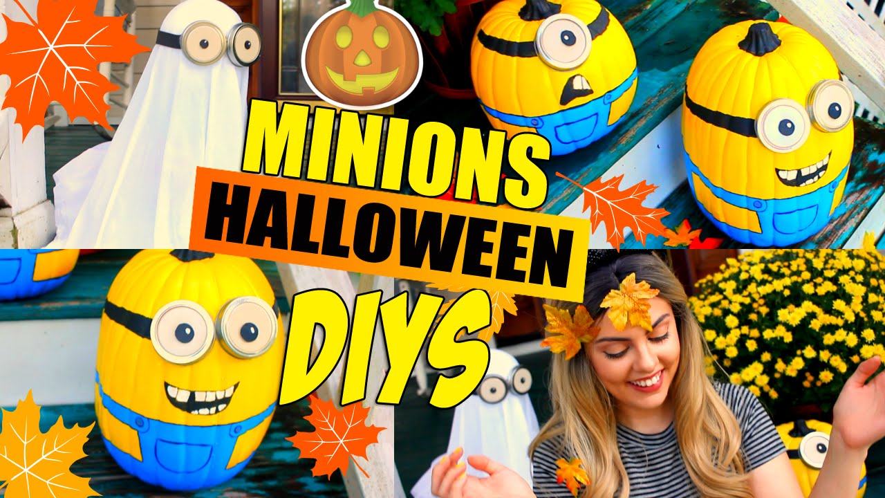 Lovely DIY Minions Halloween Decorations Pinterest Inspired Ideas | Minion Pumkins  And Ghost DIYs