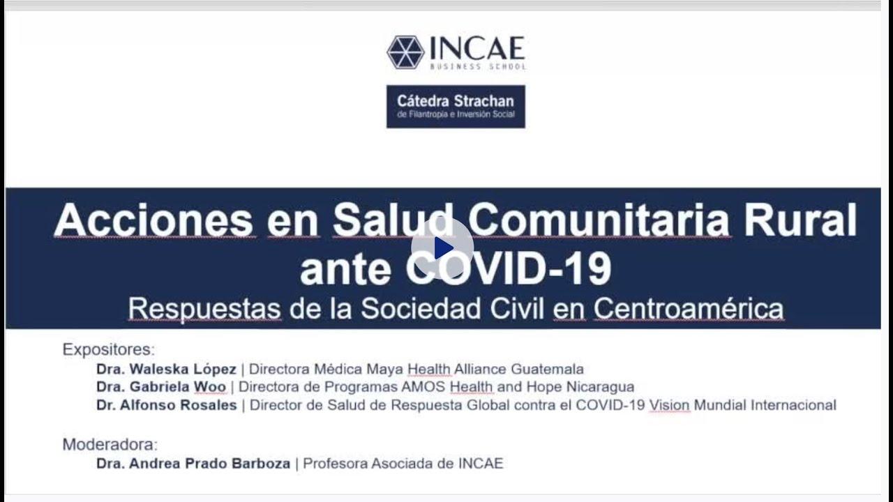 Líderes de la sociedad civil centroamericana comparten acciones ante COVID-19