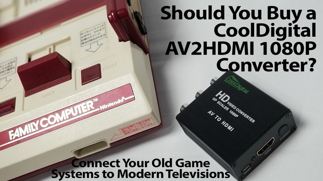 Should You Buy the Cool Digital AV2HDMI Adapter for Retro Video Games
