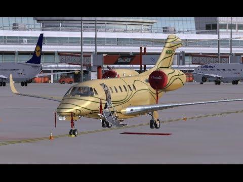 FSX Flight Eaglesoft CitationX EDDH-EGLL HD