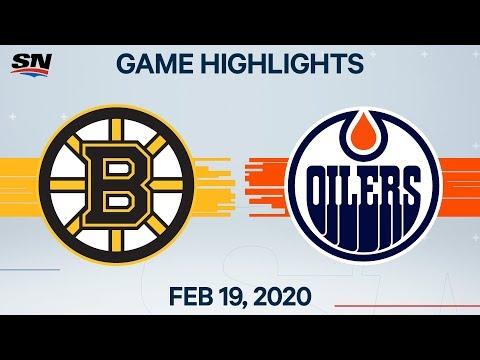 NHL Highlights | Bruins Vs Oilers – Feb. 19, 2020