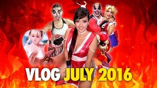 Cosplay babes, Dead or alive xtreme 3, Karcamo in drag and more - Vlog July 2016 - Karcamo Gaming
