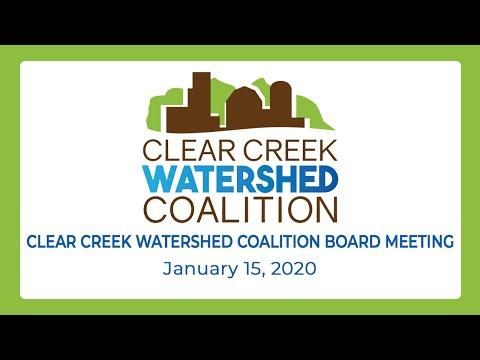 Clear Creek Watershed Coalition Board Of Directors Meeting (Jan. 15, 2020)