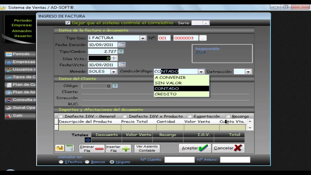 Registro de Ventas - Programa de Libros Electrónicos PLE