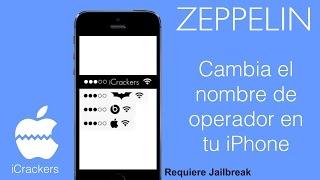 Tweaks iOS 7 - 8.4 | Cómo cambiar el nombre de operador (carrier) en iPhone usando Zeppelin