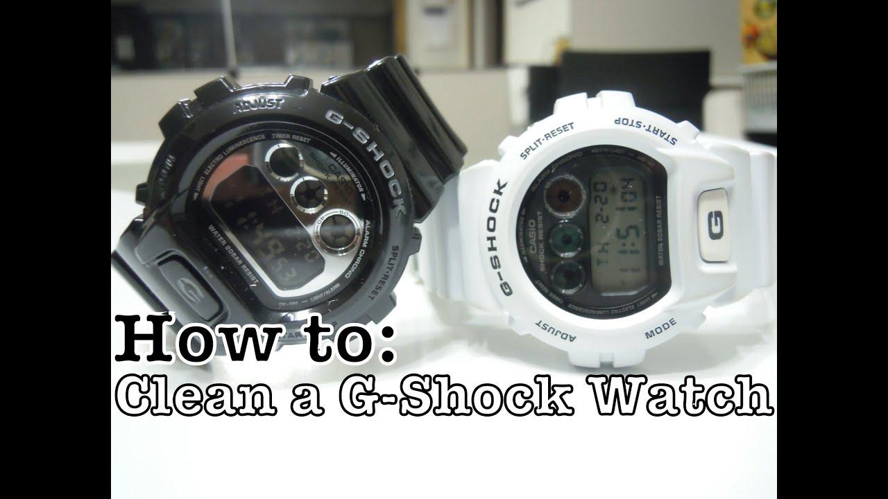 How To Clean G Shock Matte Glossy Youtube Casio Baby Ba 120 1b Hitam