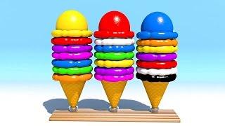 Шарики мороженого.Учим цвета.Развивающие мультики и обучающие видео обзоры детских игрушек