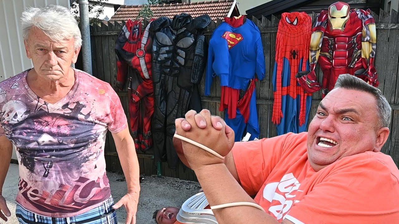 Drunk Grandpa Became Superheroes To Save Grandson