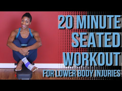 20 Minute Seated Strength & Cardio Workout | For lower Body Injuries | Follow Along