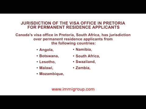 Jurisdiction of the visa office in Pretoria for permanent re