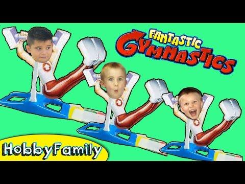 Fantastic Flying Gymnast Stunt Challenge Game HobbyFamilyTV