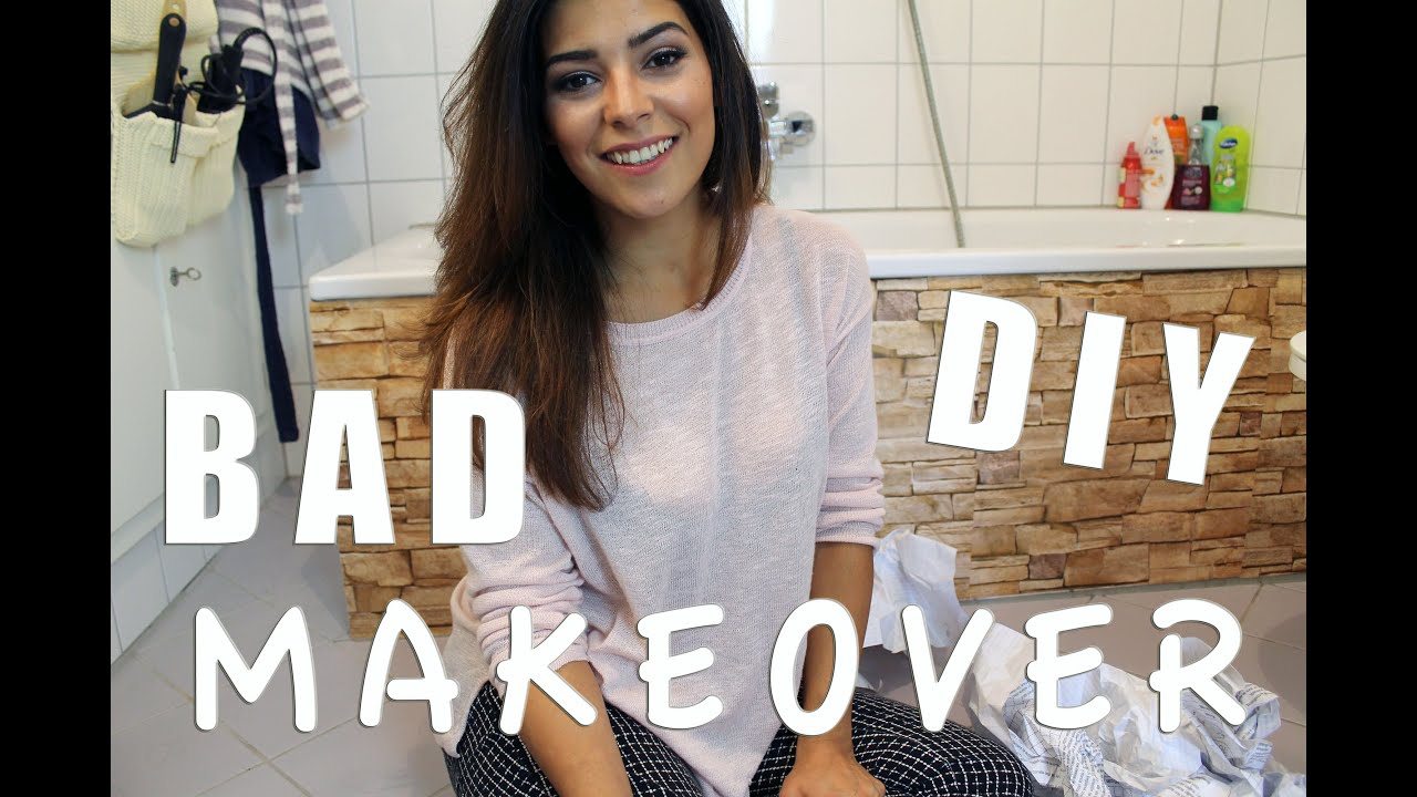 bad diy makeover mit fliesenfolie youtube
