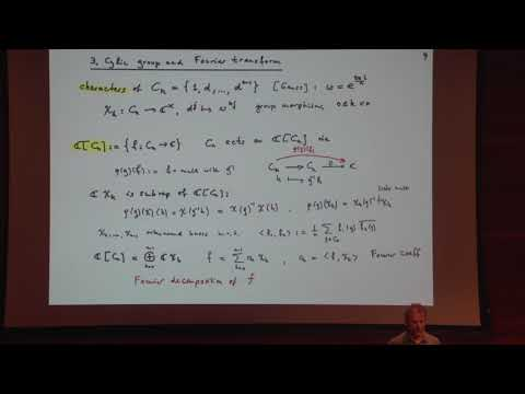 A gentle introduction to group representation theory -Peter Buergisser