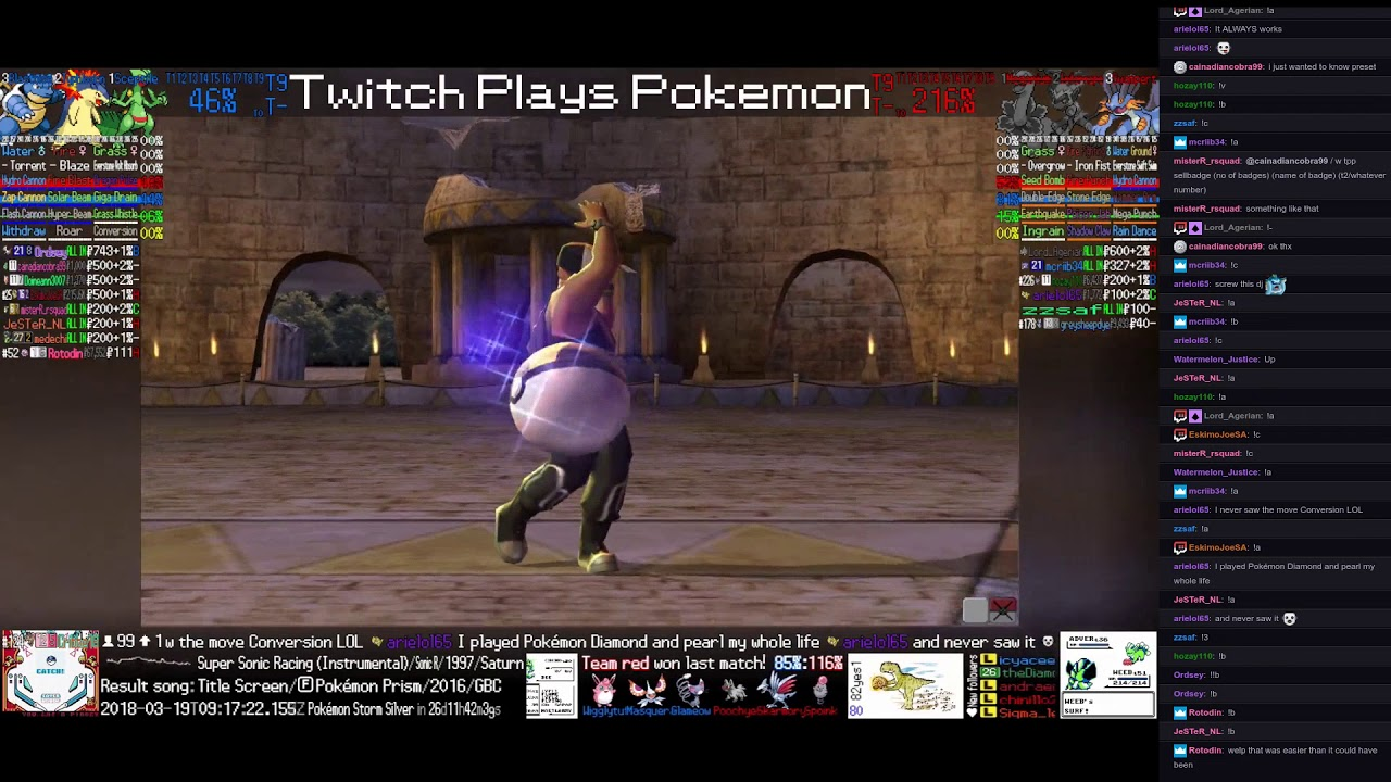 Twitch Plays Pokemon Battle Revolution Matches 111037 And 111038