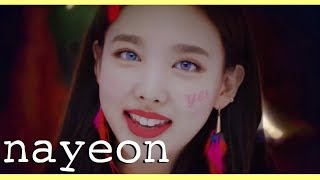 [[2015-2018]] EVERY TWICE music video but only when NAYEON has a line | (트와이스x나연)