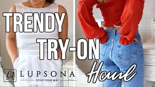 TRENDY & CHEAP CLOTHING TRY ON HAUL 2018 with Lupsona