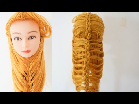 Double Flip Over Under The Chin Beard Braid Hairstyle