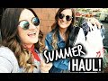 SUMMER CLOTHING HAUL! Michelle and Aline Vlogs
