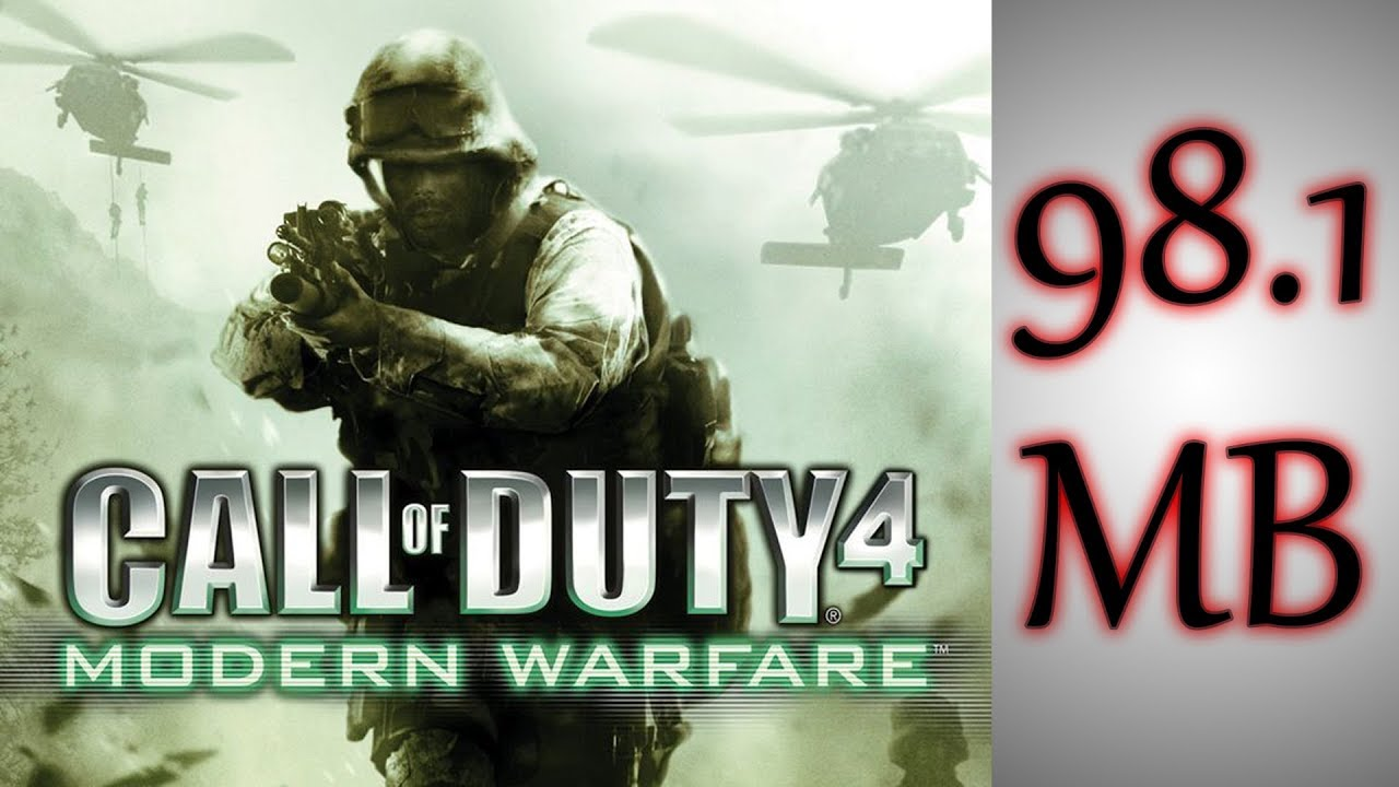 download call of duty 4 modern warfare pc game highly compressed