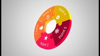How to create 3d puzzle circle infographic in Microsoft PowerPoint. PPT tricks.