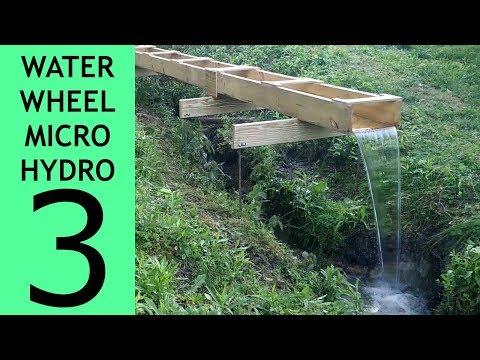 Waterwheel Microhydro P3, Flume Installation