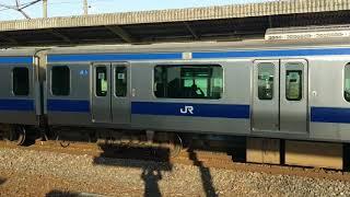 佐和駅 普通列車富岡行E531系K470編成 到着・発車シーン 2019年4月20日