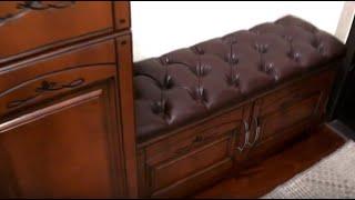 Мебель в прихожую с мдф. Комод и пуф в коридор. Тумба для обуви Киев. Тумба с мягкой сидушкой(, 2016-10-26T10:25:57.000Z)