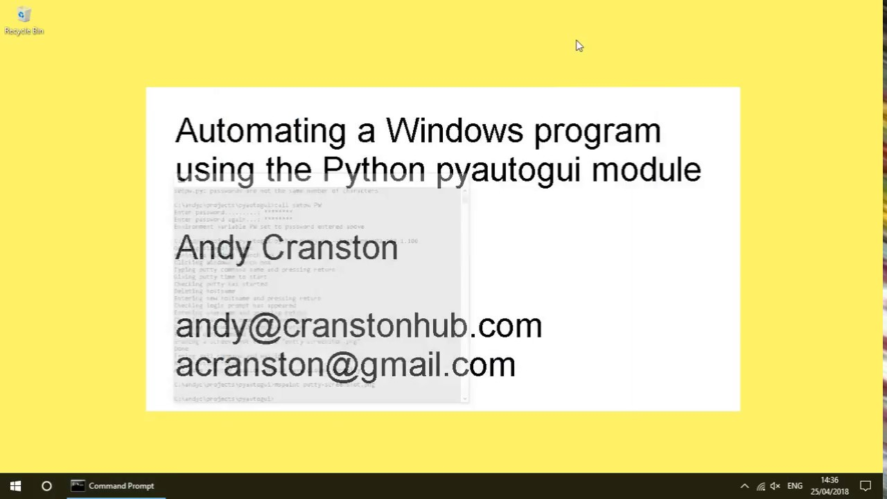 Automating a Windows program using Python module pyautogui