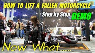 How to lift a fallen Motorcycle - Demonstration at Harley-Davidson Stand at 2013 NY Motorcycle Show thumbnail