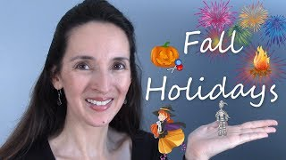 Fall Holidays in the US & UK 🎃 Halloween and Bonfire Night 🔥
