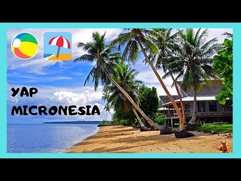 Island of YAP (MICRONESIA): the beautiful VILLAGE VIEW BEACH (PACIFIC OCEAN)