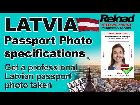 Latvian Passport Photo and Visa Photo snapped in Paddington, London