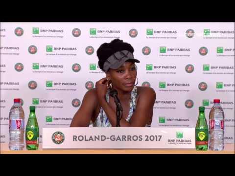 Venus Williams Press Conference RG17 - 2nd of June