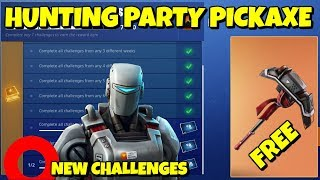 FREE HUNTING PARTY PICKAXE IN FORTNITE: NEW CHALLENGES