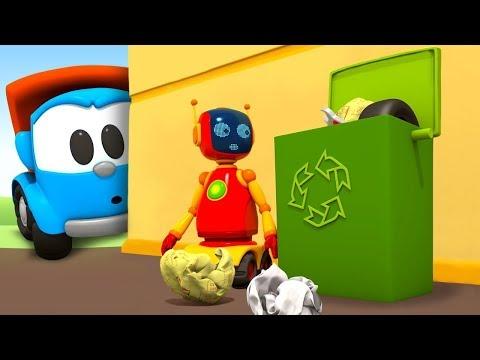 Çizgi Film. Leo çöp Kamyonu Birleştiriyor! Küçük çocuklar Için
