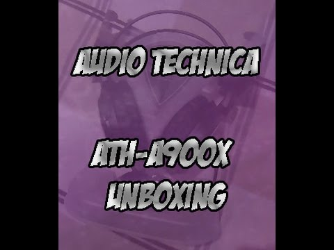 Audio Technica ATH-A900x Closed Back Headphones Unboxing