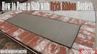 In This Video we show you how to pour a very easy beginners slab wi...