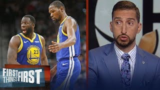 Draymond shouldn't be blamed for KD leaving, he was 'always temporary' | NBA | FIRST THINGS FIRST