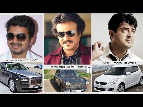 Tamil Actors and Expensive Cars   Rajini   Vijay   Ajith   Vikram   Tamil Movie Updates