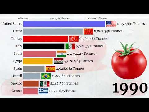Largest Tomatoes Producers in the World 2020 || Top Tomato Producing Countries 1961 - 2020 ||2020🍅🍅🍅