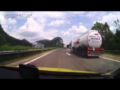 Austria. Motorway A2 Süd Autobahn, 377-0 km. 2014-06, 1x