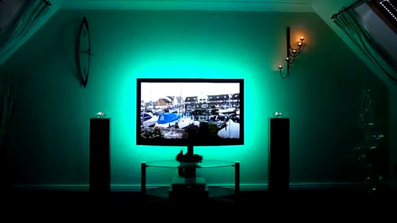 Rgb lighting tv back lighting youtube rgb lighting tv back lighting aloadofball Choice Image