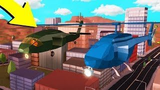 ARMY HELICOPTER VS STOCK HELICOPTER RACE!! (Roblox Jailbreak ONE YEAR Update)