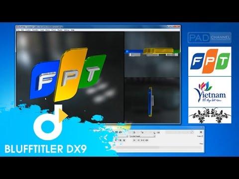 Hướng dẫn Tạo Logo FPT trên Blufftitler