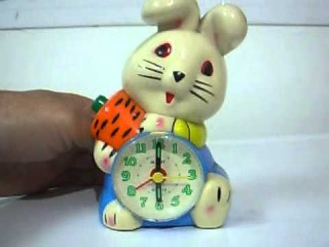 Rabbitshaped alarm clock plays music