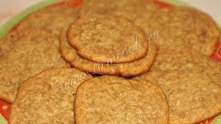 Овсяное печенье с медом  Рецепт печенье
