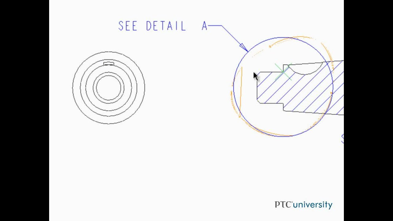 Adding detailed views in Creo Parametric 2.0 - YouTube